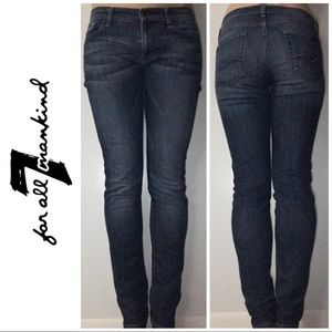 7 For All Mankind Roxanne Skinny Denim Jeans 28